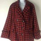 I. B. Diffusion Women's Red & Black Coat