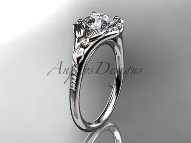 Platinum diamond floral wedding ring, engagement ring ADLR126
