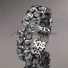 Platinum diamond vine and leaf wedding ring, engagement ring, wedding band ADLR36
