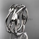 Platinum leaf and vine, flower wedding ring,wedding band ADLR350G