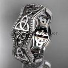 Platinum celtic trinity knot engagement ring, wedding band CT750B