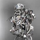 Platinum celtic trinity knot engagement set, wedding ring CT759S