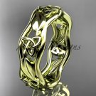 14kt yellow gold celtic trinity knot engagement ring, wedding band CT7105B