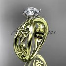14kt yellow gold celtic trinity knot wedding ring, engagement ring CT7171