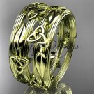 14kt yellow gold celtic trinity knot wedding band, engagement ring CT7242B