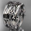 Platinum  celtic trinity knot wedding band, engagement ring CT7242B