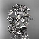 Platinum  celtic trinity knot wedding band, engagement ring CT7250B