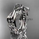 Platinum  celtic trinity knot wedding band, engagement ring CT7354G
