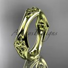 14kt yellow gold celtic trinity knot wedding band, engagement ring CT7356G