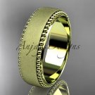 14kt yelow gold matte finish classic wedding band, engagement ring ADLR380G