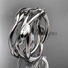 Platinum  leaf and vine wedding ring,wedding band ADLR350G