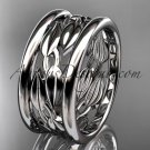 Platinum leaf and vine wedding ring,engagement ring,wedding band ADLR293