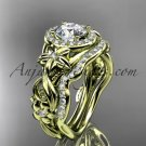 14kt yellow gold diamond unique engagement set wedding set ADLR300