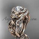 14kt rose gold diamond unique engagement set ADLR300