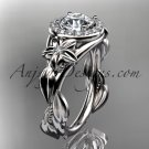 14kt white gold diamond unique engagement ring,wedding ring ADLR327
