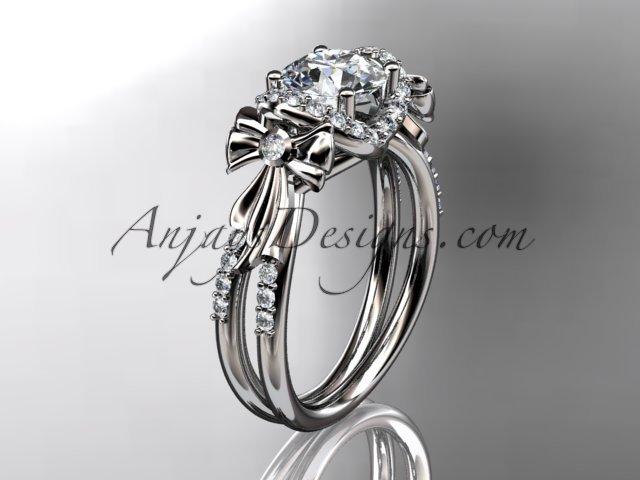 platinum diamond unique engagement ring,wedding ring ADER155
