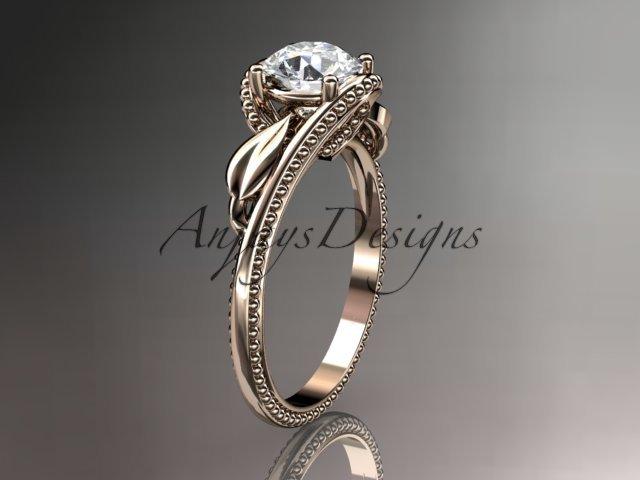 Unique 14kt rose gold engagement ring ADLR322