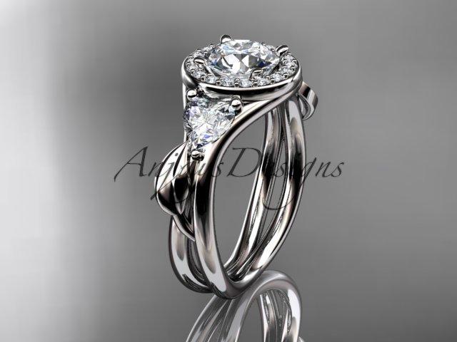 Platinum diamond unique engagement ring,wedding ring ADLR314