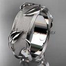 14kt white gold leaf and vine wedding ring,engagement ring ADLR252G