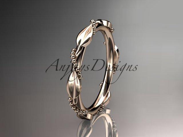 14k rose gold wedding ring,engagement ring,wedding band ADLR178B
