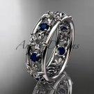 4kt white gold diamond leaf wedding ring,engagement ring, wedding band. ADLR160  inspired jewelry
