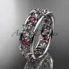 14kt white gold diamond leaf wedding ring,engagement ring, wedding band. ADLR160