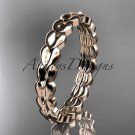 14kt rose gold diamond leaf wedding ring,engagement ring,wedding band. ADLR35B