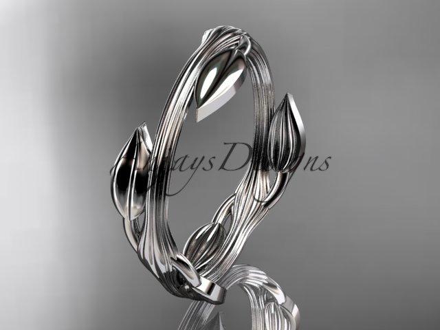 platinum leaf and vine wedding ring,engagement ring ADLR31A