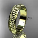 14kt yellow gold wedding band ADLR399G