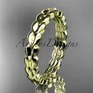 14kt yellowgold leaf wedding ring, engagement ring, wedding band ADLR35B