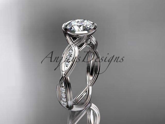 14k white gold diamond wedding ring,engagement ring ADLR24