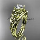 14kt yellow gold celtic trinity knot engagement ring , wedding ring CT765