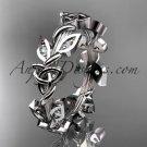 Platinum  diamond celtic trinity knot wedding band, bridal ring CT7120B