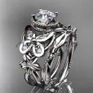 Platinum  diamond butterfly engagement set ADLR136S