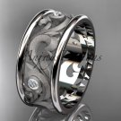 platinum  diamond engagement ring, wedding band ADLR121BB
