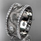 14kt white gold diamond engagement ring, wedding band ADLR121BA