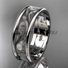 Platinum  diamond engagement ring, wedding band ADLR414BB