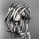 Platinum leaf and vine wedding ring, wedding band ADLR351B