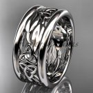 Platinum  celtic trinity knot wedding band, engagement ring CT7293GA