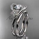 14kt white gold diamond unique engagement set ADLR166S