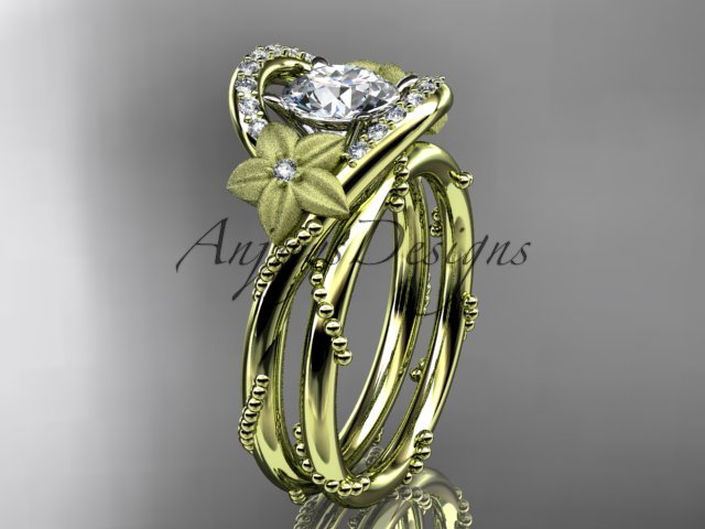 14kt yellow gold diamond unique engagement set ADLR166S