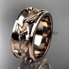 14kt rose gold engagement ring, wedding band ADLR417G