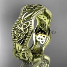 14kt yellow gold celtic trinity knot wedding band, engagement ring CT7190G