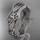 platinum  celtic trinity knot wedding band, engagement ring CT7190GM