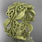 14kt yellow gold celtic trinity knot wedding band, matte finish wedding band, engagement ring CT7188