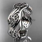 platinum  celtic trinity knot wedding band, engagement ring CT7512G