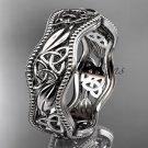 platinum  celtic trinity knot wedding band, engagement ring CT7508G