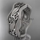platinum  celtic trinity knot wedding band, engagement ring CT7508GM