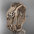 14kt rose gold celtic trinity knot wedding band, engagement ring CT7510GM
