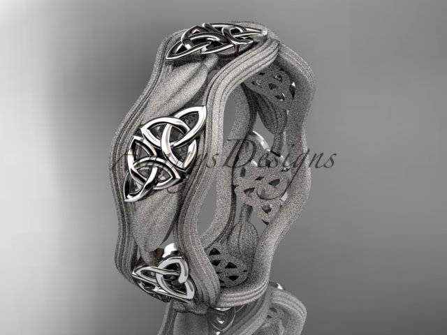 platinum  celtic trinity knot wedding band, engagement ring CT7510GM